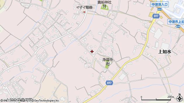 大分県中津市上如水1148周辺の地図