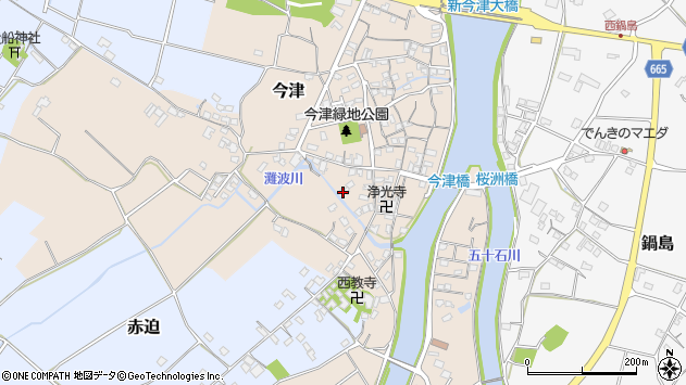 大分県中津市今津542周辺の地図
