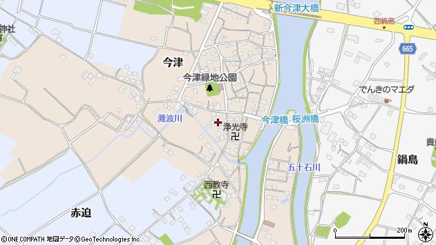 大分県中津市今津550周辺の地図