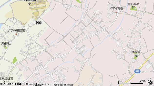 大分県中津市上如水586周辺の地図