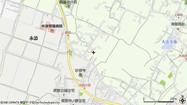 大分県中津市上池永717周辺の地図