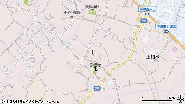 大分県中津市上如水1130周辺の地図