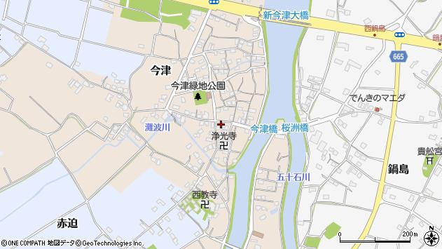 大分県中津市今津249周辺の地図
