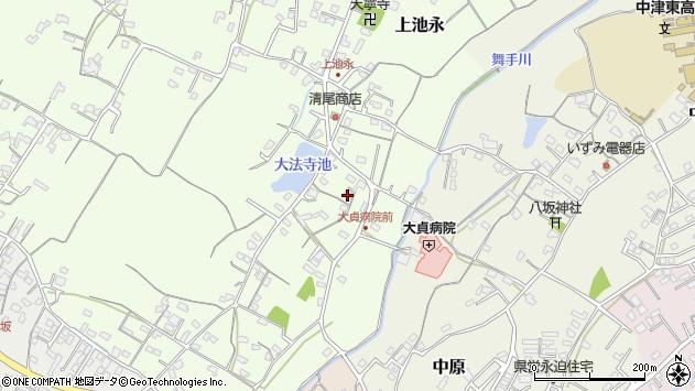大分県中津市上池永159周辺の地図