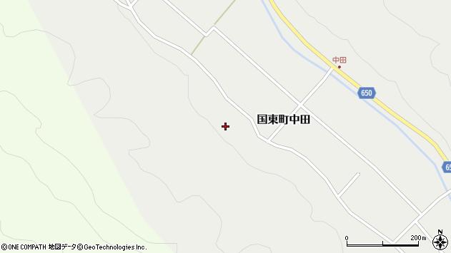 大分県国東市国東町中田996周辺の地図