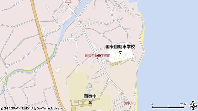 大分県国東市国東町北江4383周辺の地図
