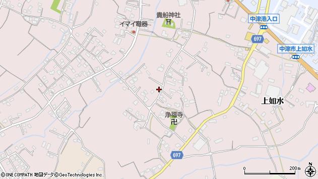 大分県中津市上如水1155周辺の地図