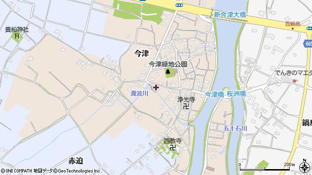 大分県中津市今津534周辺の地図