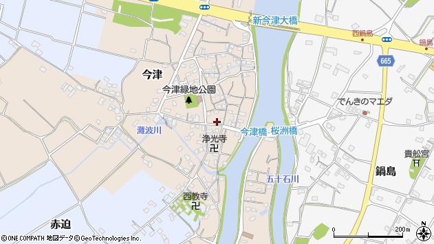 大分県中津市今津273周辺の地図