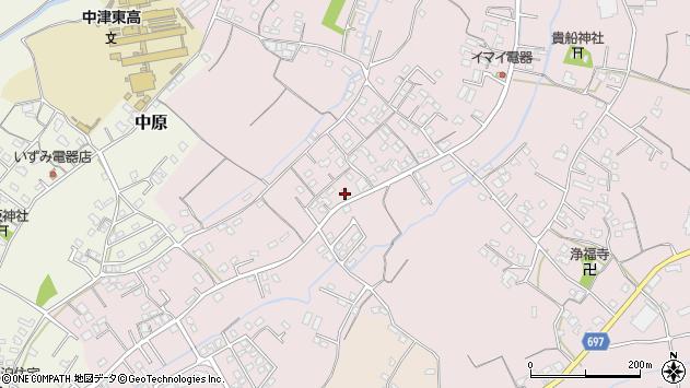 大分県中津市上如水578周辺の地図