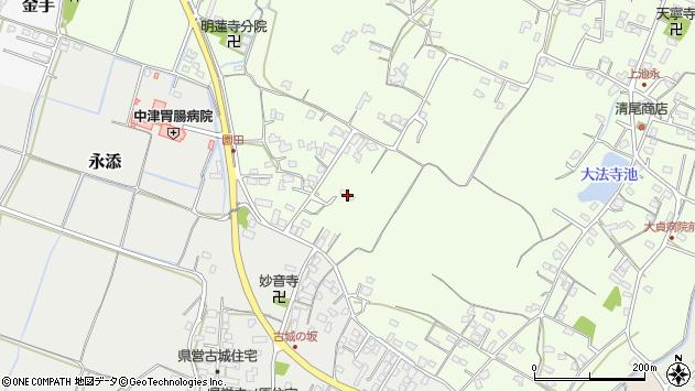 大分県中津市上池永606周辺の地図