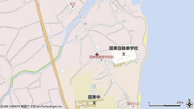 大分県国東市国東町北江4076周辺の地図