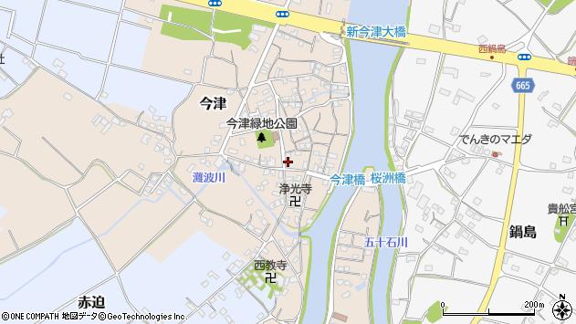 大分県中津市今津280周辺の地図