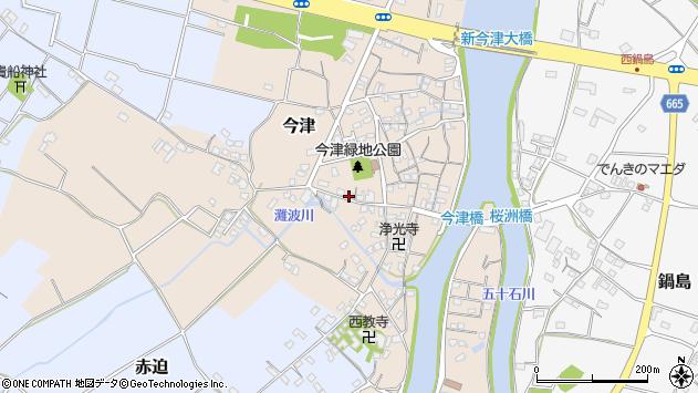 大分県中津市今津286周辺の地図