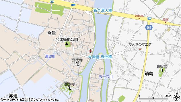 大分県中津市今津246周辺の地図