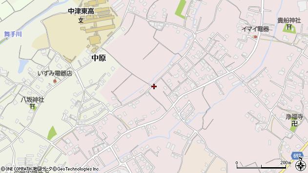 大分県中津市上如水594周辺の地図