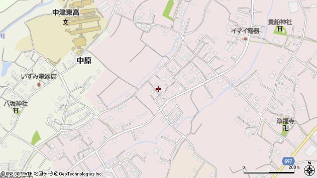 大分県中津市上如水575周辺の地図