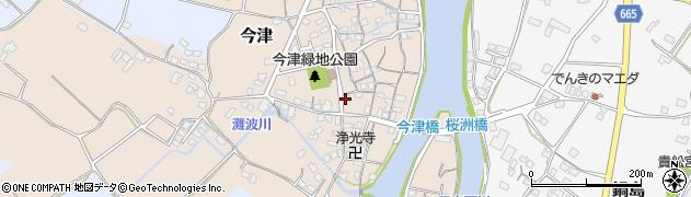 大分県中津市今津185周辺の地図