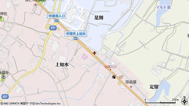 大分県中津市上如水1414周辺の地図