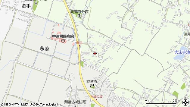 大分県中津市上池永713周辺の地図