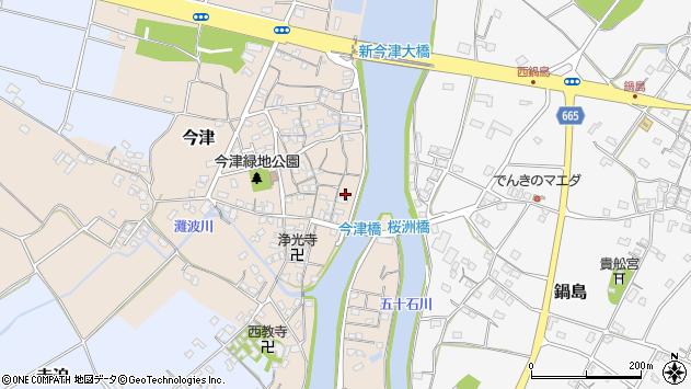 大分県中津市今津243周辺の地図