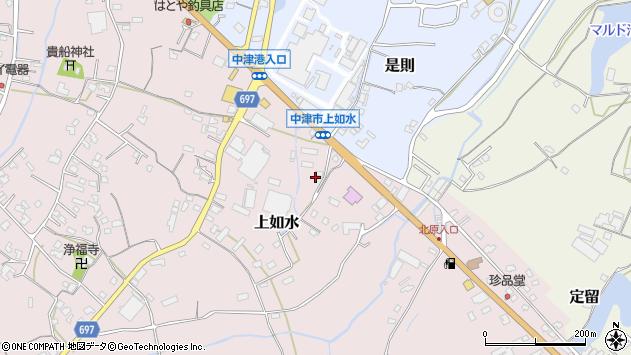大分県中津市上如水1406周辺の地図