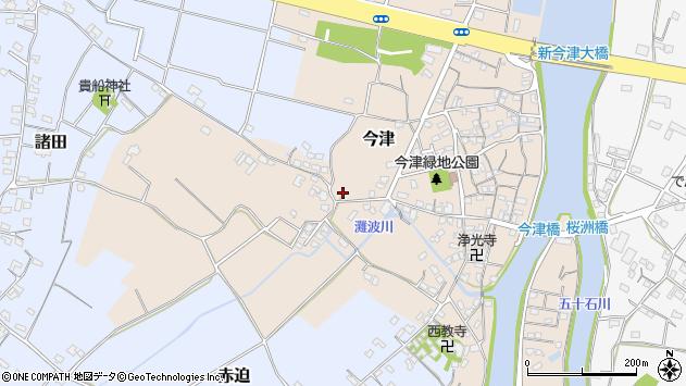 大分県中津市今津316周辺の地図