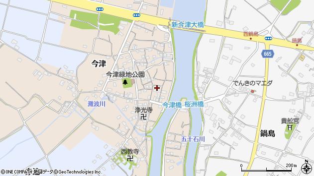大分県中津市今津186周辺の地図