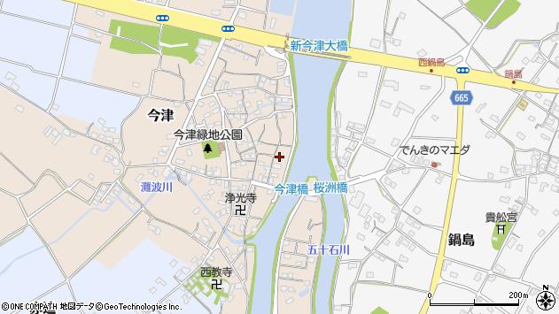 大分県中津市今津221周辺の地図