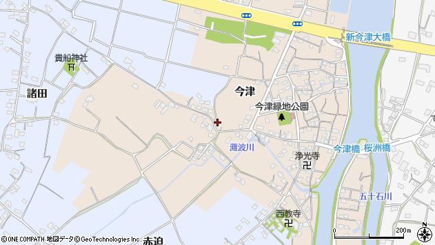 大分県中津市今津312周辺の地図