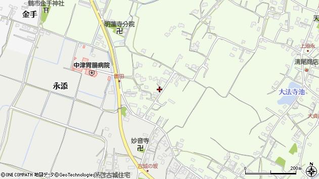 大分県中津市上池永699周辺の地図