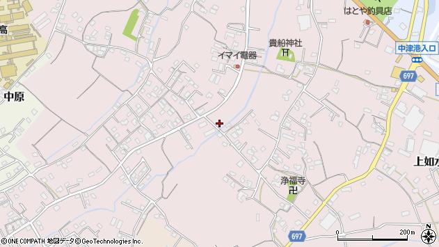 大分県中津市上如水739周辺の地図