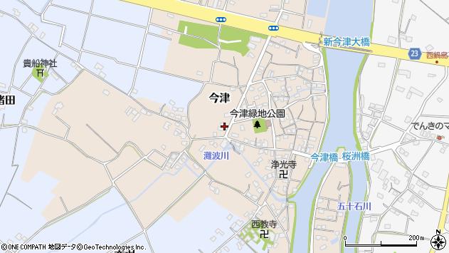 大分県中津市今津302周辺の地図