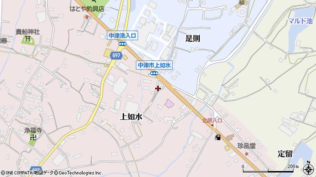 大分県中津市上如水1409周辺の地図