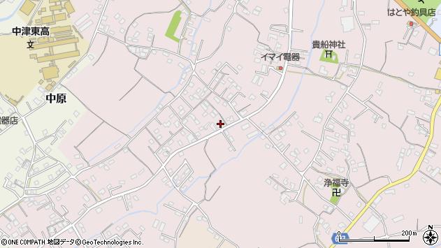 大分県中津市上如水549周辺の地図
