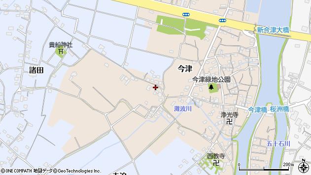 大分県中津市今津350周辺の地図