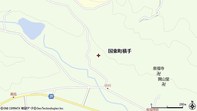 大分県国東市国東町横手2219周辺の地図