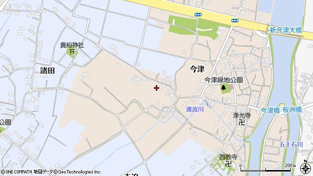 大分県中津市今津345周辺の地図