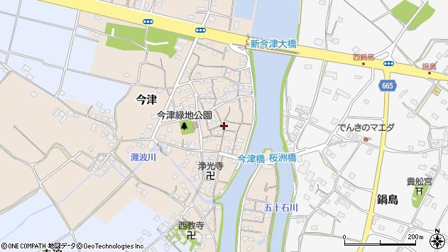大分県中津市今津228周辺の地図