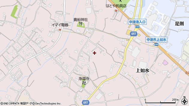 大分県中津市上如水1189周辺の地図