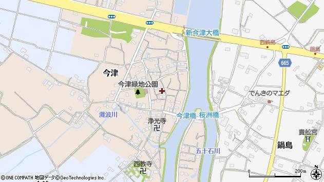 大分県中津市今津178周辺の地図
