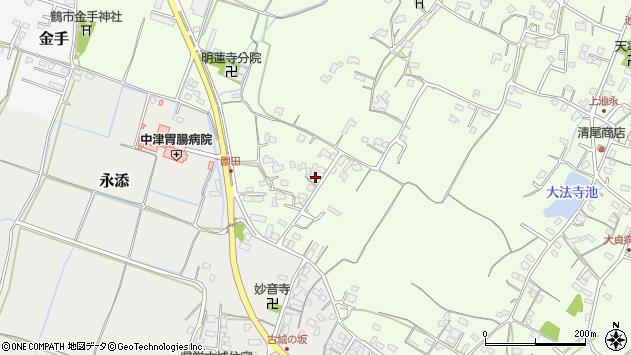大分県中津市上池永612周辺の地図