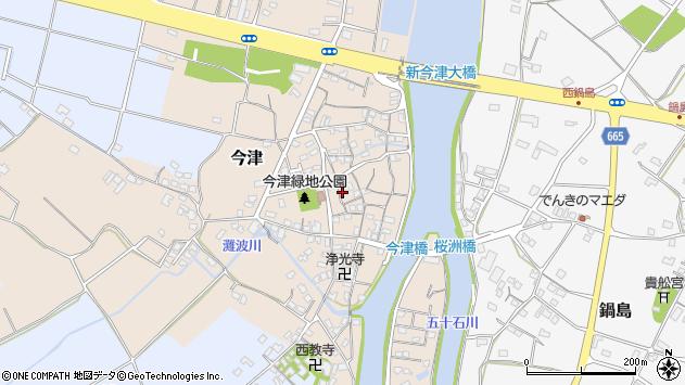 大分県中津市今津162周辺の地図