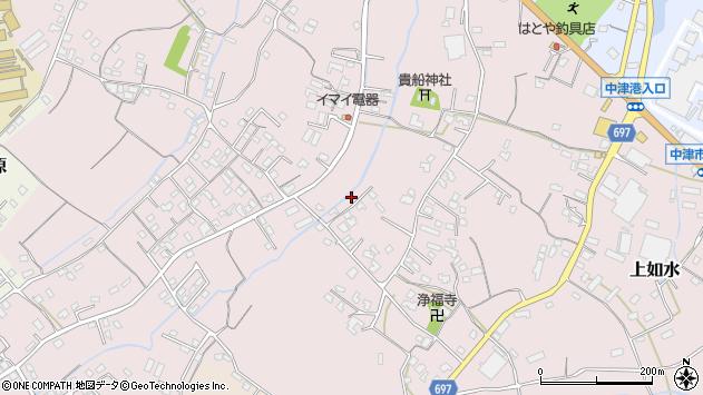 大分県中津市上如水859周辺の地図