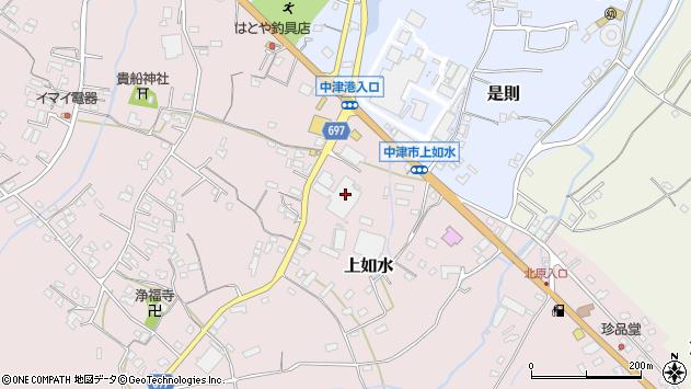 大分県中津市上如水1342周辺の地図