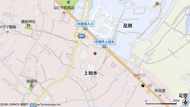 大分県中津市上如水1333周辺の地図