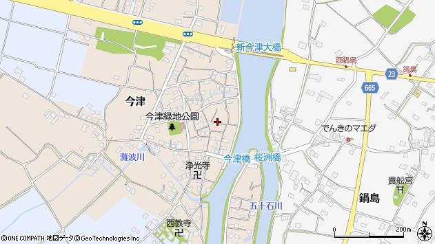 大分県中津市今津226周辺の地図