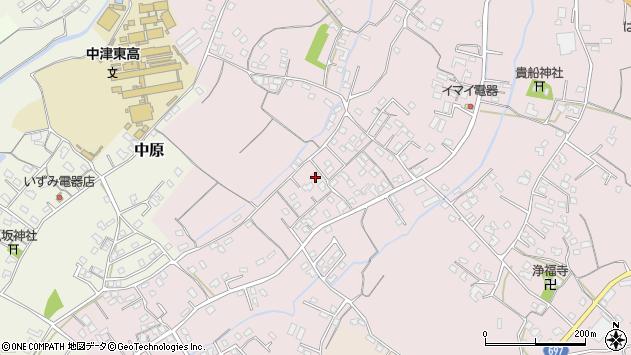 大分県中津市上如水570周辺の地図