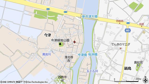 大分県中津市今津218周辺の地図