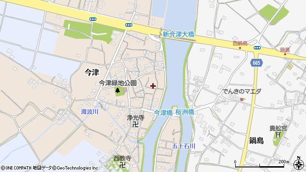 大分県中津市今津210周辺の地図